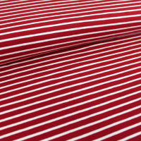 Organic Jersey stripes - cherry