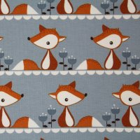 Biojersey Little Fox - grau (GOTS)
