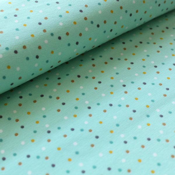 Biojersey Mini Jungle Confetti in mint (GOTS)