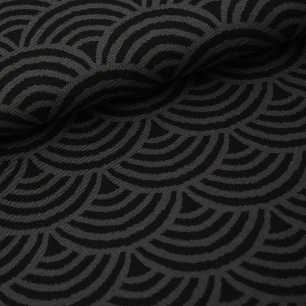 Organic Jacquard Rainbow grey-black