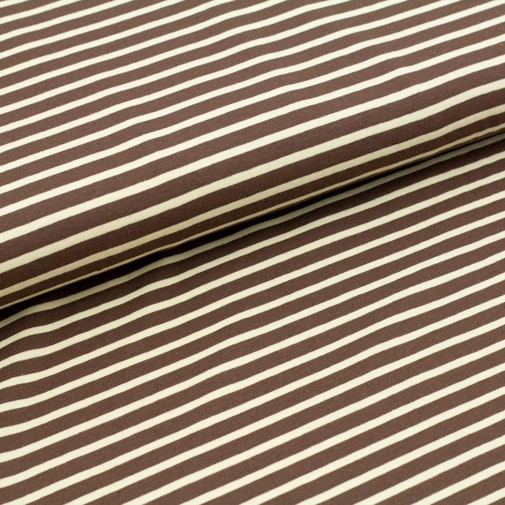 biojersey streifen braun beige stoffe kaufen beim stoffonkel bei. Black Bedroom Furniture Sets. Home Design Ideas
