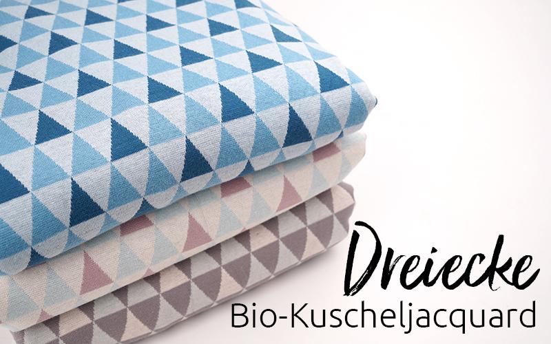 Bio-Kuscheljacquard Dreiecke