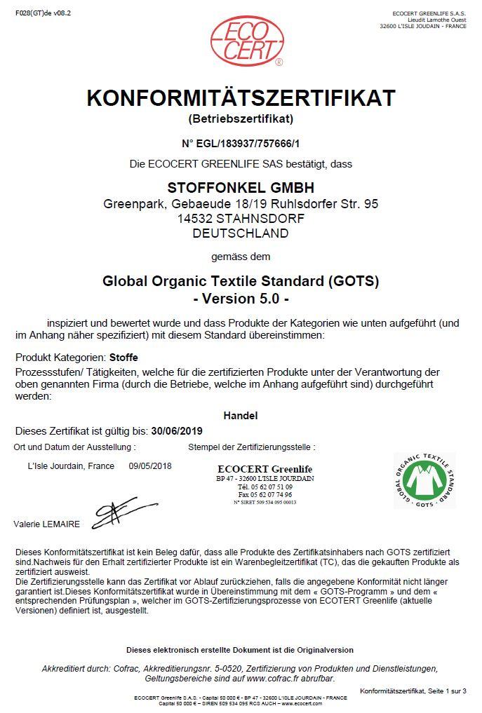 Gots-Zertifikat