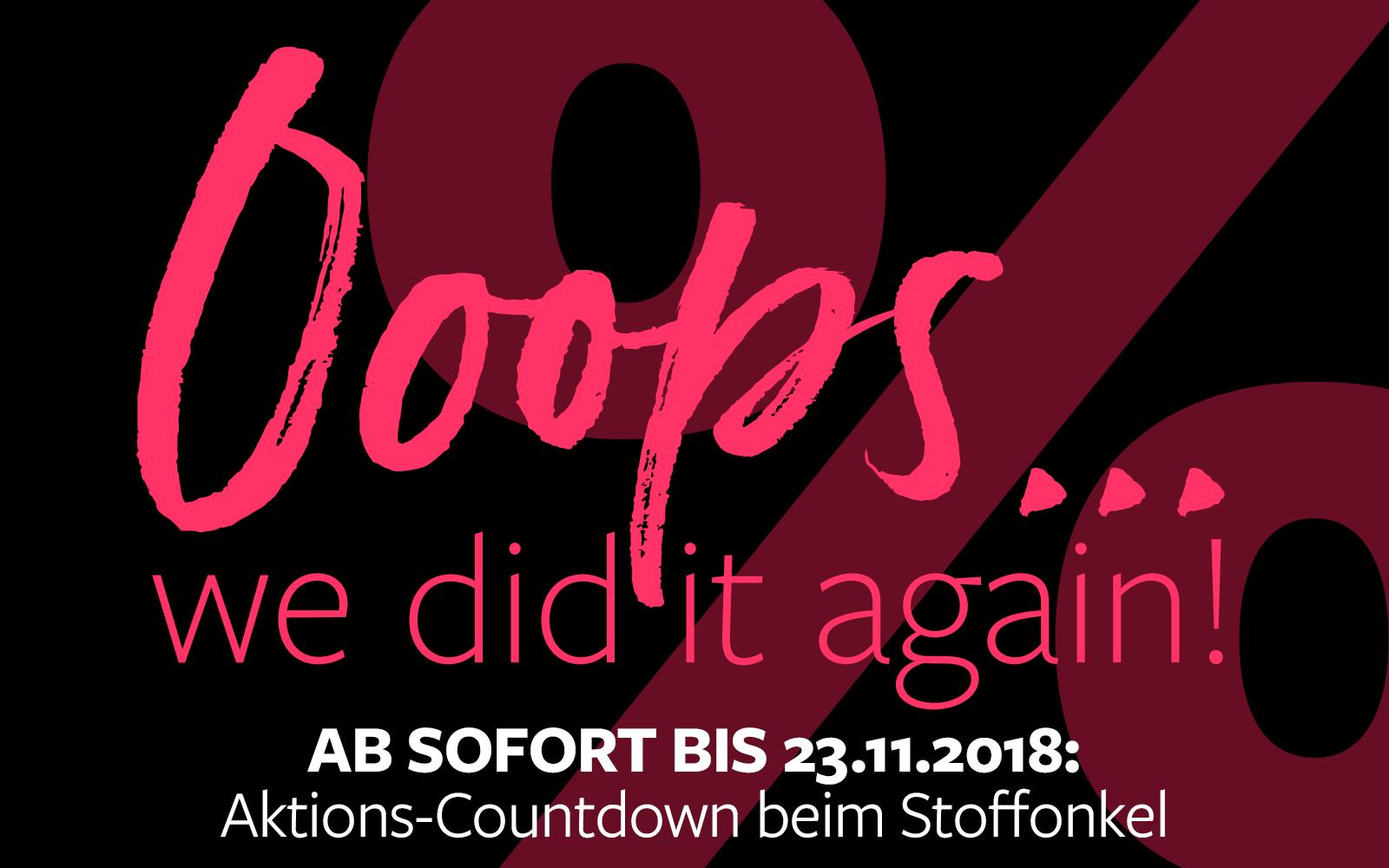 OopsDays - Aktions-Countdown beim Stoffonkel!