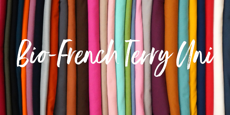 Bio-French Terry in 29 Farben